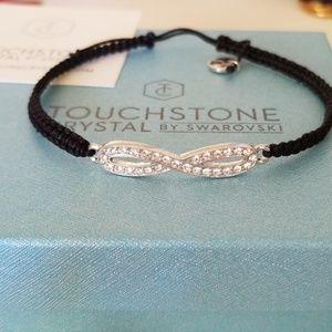 Touchstone Crystal by Swarovski infinity bracelet